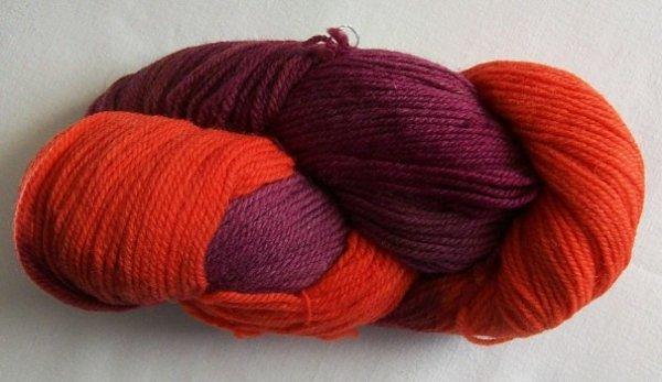 Wolle pur in lilaorange