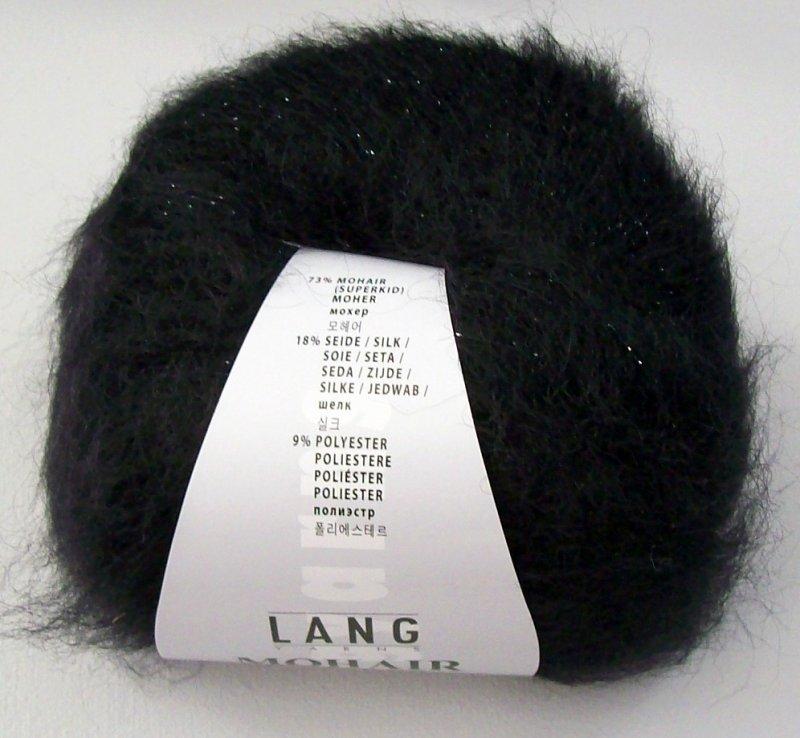 Mohair luxe lame in schwarz