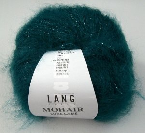 Mohair luxe lame in petrol