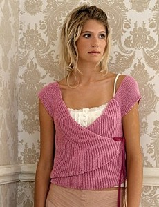 Wickeltop aus Pure silk in rosa Farb-Nr. 10